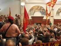 Macedonian police detain 30 people over parliament invasion