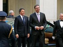 Italian PM Renzi meets Serbian PM Vucic, focus on Balkans