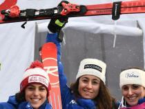 Ski: historic in Bad, three 'azzurre' on downhill podium