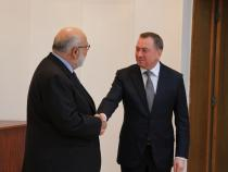 Minister of Foreign Affairs of Belarus Makei meets CEI delegation (Minsk, 27 October 2016)