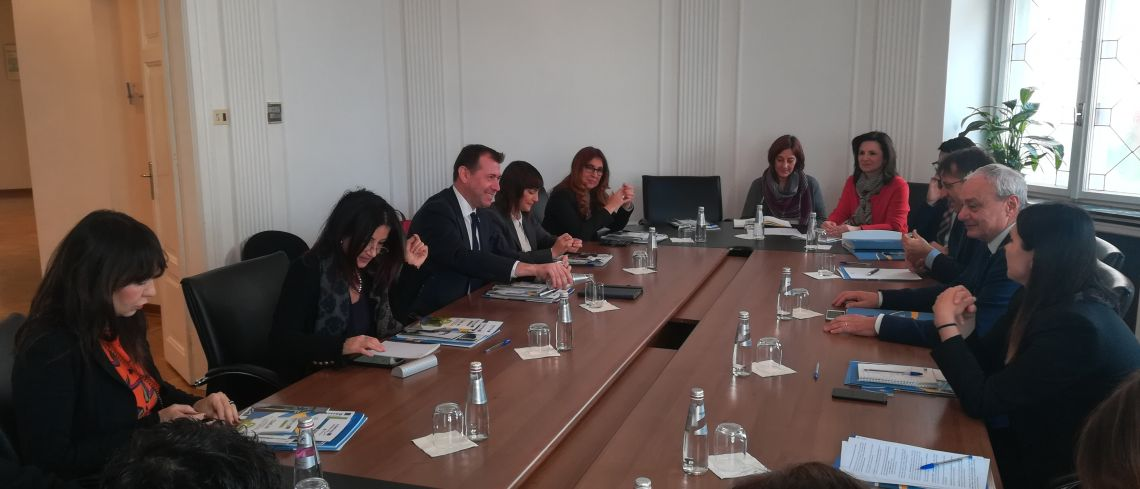 Italian Delegation to CEI Parliamentary Dimension visits CEI Executive Secretariat (Trieste, 11 March 2019)