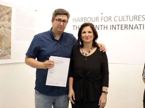 Milan Ranković (Serbia) with Barbara Fabro (CEI)